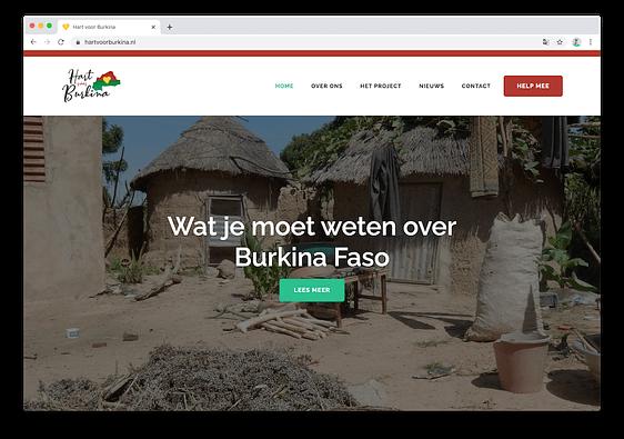 Homepage Hart voor Burkina