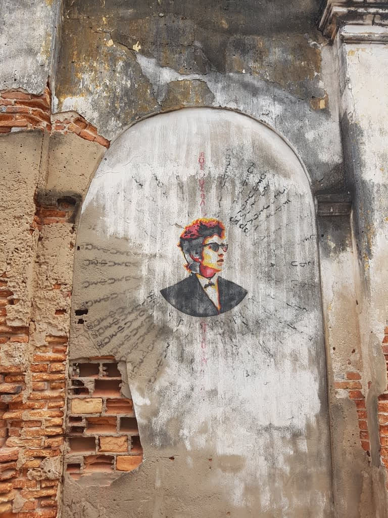 Street art in Kampot, Cambodia